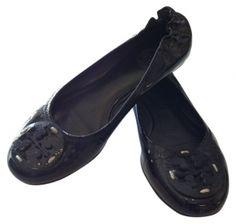 Tory Burch patent leather, ballerina Black Flats