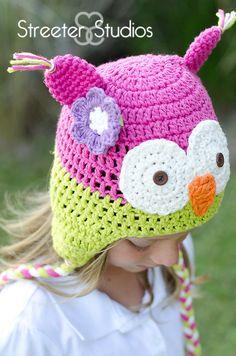 Owl Hat - Newborn, Baby, Toddler Photo Prop. $22.99, via Etsy.