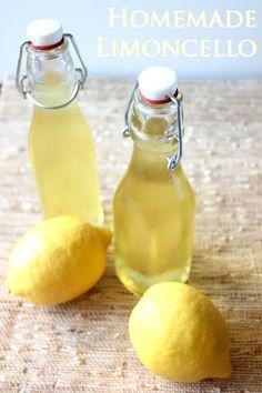 Homemade Limoncello | framedfrosting.com