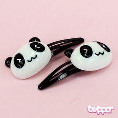Panda hiuspinnit - keskikoko 1,90€