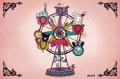 Sentimental Circus Sentimental Circus, Circus Illustration, My Melody Sanrio, Chibi Food, Day Designer, Circus Party, Sanrio Characters, Cute Chibi, Creepy Cute