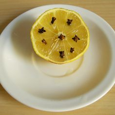 Lemon and cloves to repel flies and also mosquitos!