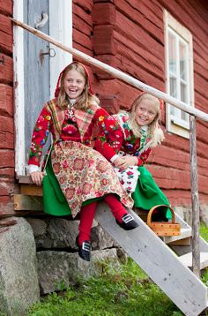 Traditional dress for Midsummer Night Festival in Dala Floda, Sweden