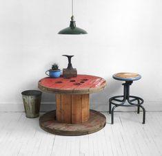 vintage spool coffee table