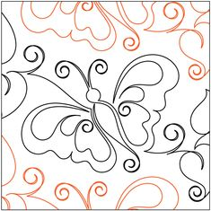 Quilting Designs by Urban Elementz Quilting Stitch Patterns, Machine Quilting Patterns, Quilt Stitching, Quilt Patterns, Quilting Stencils, Quilting Templates, Longarm Quilting, Free Motion Quilting, Butterfly Quilt Pattern