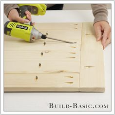 How you can use kreg jig to make a table top