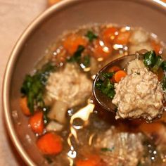 Asian Noodle Soup with Gingered Chicken Meatballs on the blog now! #fodmaps