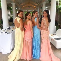 Candy colours festa pastel, madrinhas tons pasteis, madrinhas pastel, madrinha rosa, look Bridesmaid Dresses, Prom Dresses, Formal Dresses, Wedding Dresses, Bridesmaids, Diy Couture, Candy Colors, Lace Sleeves, Dream Wedding