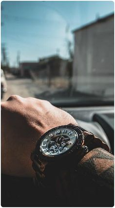 Drive time style. | Pic courtesy of @kaotical24 of IG | Find his watch, the Dover Zebrawood & Cream, at woodwatches.com - free shipping worldwide!
