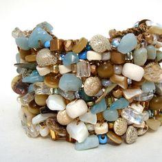 Big Beach Cuff Statement Bracelet Resort  Vacation by lapisbeach, $145.00