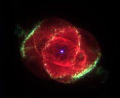 Nebulosa planetária NGC 6543: casulo gasoso envolve uma estrela que está morrendo