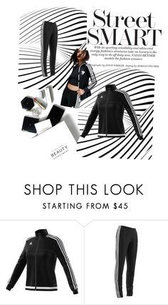 """""""Untitled #526"""" by blumbeeno ❤ liked on Polyvore featuring adidas and H&M"""