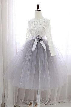Sweet A-line Scalloped Neck Lace Tulle Sashes / Ribbons Knee-length Long Sleeve Prom Dresses Sweet Short Homecoming Dresses,A-line Scalloped Neck Lace Cocktail Dresses,Tulle Sashes / Ribbons Knee-length Graduation Dress,Long Sleeve Prom Dresses Long Sleeve Homecoming Dresses, Party Dresses With Sleeves, Prom Dresses Long With Sleeves, Dress Long, Dresses For Girls, Cute Dresses For Party, Cocktail Vestidos, Cocktail Dresses, Cocktail Attire