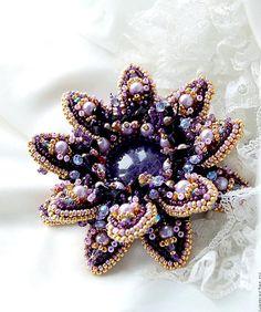 Beautiful brooches by Agija Rezcova   Beads Magic