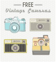 Free Vintage Camera clip art printables