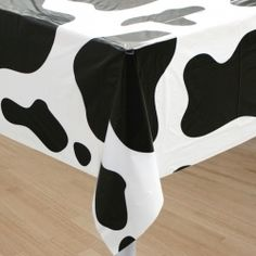 Cow Print Table Cover  a Sheriff Callie's Wild West Party