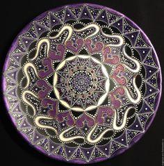 Купить Тарелка декоративная Forgotten Melody - подарок на любой случай, точечная роспись