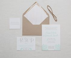 Oh So Beautiful Paper: Anne + Durand's Modern Boho Wedding Invitations