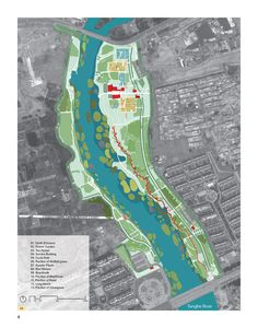 The Red Ribbon Tanghe River Park by Turenscape | Qinhuangdao, Hebei, China | 2007 | General Plan