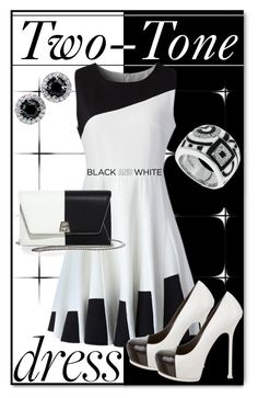 """""""Noir et Blanc"""" by goldenopal ❤ liked on Polyvore featuring Chicwish, Akris, Belle Etoile and Yves Saint Laurent"""