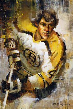 Hockey art print of Bobby Orr of the Boston Bruins in his famous stance. Quality canvas print ready to hang. Various size and framing options. Boston Bruins Hockey, Blackhawks Hockey, Pittsburgh Penguins Hockey, Dont Poke The Bear, Street Hockey, Canada Hockey, Hockey Pictures, Bobby Orr, Hockey World