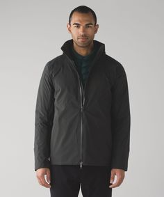 Men's Shell Jacket - (Black, Size