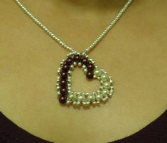 Free Video Tutorial How to make small heart pendant with pearls featured in recent Bead-Patterns.com Newsletter