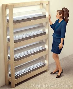 Narrow Seed Starting Shelves for tight spaces