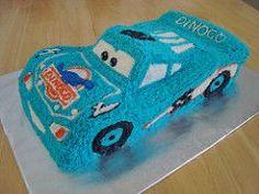 Dinoco Lightning McQueen Cake (IMAKECAKES) Tags: birthday blue cars cake yummy lightningmcqueen dinoco