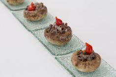 Cogumelos recheados com carne [ Buffet   Finger food ]