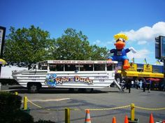 The Seattle Ride the Ducks tour - A fun 90 minute land and water tour of Seattle on an amphibious vehicle.  Board across the street from the EMP near the Seattle Center.
