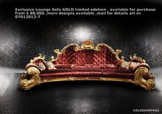 Exclusive Lounge Sofa GOLD limited edetion , available for purchase from $88,000 ,more designs available ,mail for details art nr.07012013-7