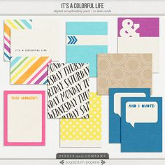 It's a Colorful Life : Note Cards