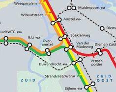 Subway Map Amsterdam