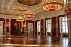 Tsaritsyno Palace, Moscow, Russia. Built as a summer residence for Catherine II....I'd love to have my reception here in this room!!