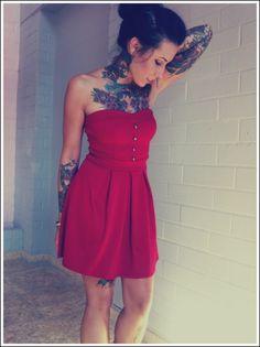 #Tattoos and cute dress!!