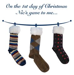 High-end pattern socks may for great stocking stuffers.