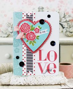 Love You...Handmade Card by lilybeanpaperie on Etsy