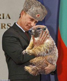 Vladimir Putin Holding a Groundhog