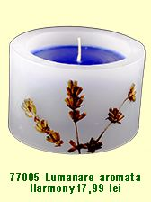 Lumanare handmade decorativa cu ulei esential si flori de lavanda. Decorative candle handmade with lavander oil and lavander flowers. Relax and enjoy the aroma!