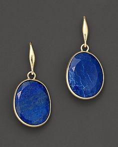 lapis and gold earrings - mcloveinstyle