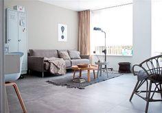 Moderne beton-look tegels