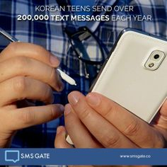 #Didyouknow Korean teens send over 200.000 text messages each year.