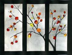 that artist woman: Mixed Media Fall eggshell mosaic leaves using mod-podge Autumn Art, Autumn Trees, Fall Leaves, Fall Art Projects, Class Projects, 4th Grade Art, Ecole Art, Family Crafts, Shell Art