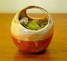 Orange Trap Shino Striped Handmade Ceramic Pinch Pot with Clay Pinch Pots, Ceramic Pinch Pots, Ceramic Planters, Ceramic Clay, Clay Pots, Ceramic Vase, Slab Pottery, Pottery Bowls, Ceramic Pottery