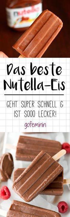 Nutella-Eis super schnell selber machen - so geht's!