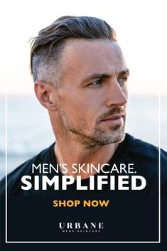 At Urbane, we believe skincare should be results-oriented, quality tested and simple to use. Shop our Everyday Collection today to see how easy a quality regime is! Best Hairstyles For Older Men, Haircuts For Men, Guys Grooming, Hair And Beard Styles, Hair Styles, Covering Gray Hair, Beard Look, Anti Aging Cream, Good Looking Men