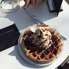 Imagen de food, waffles, and yummy