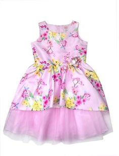 fe08849dab37 Wonder Nation Floral Shantung and Tulle Easter Dress (Little Girls, Big  Girls & Big Girls Plus)