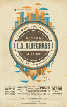 Bluegrass poster design by DKNG Studios Graphic Design Typography, Graphic Design Illustration, Flyer Design, Festival Posters, Concert Posters, Photoshop, Looks Vintage, Graphic Design Inspiration, Retro